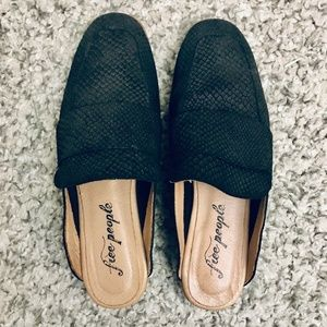Free People At Ease Loafer Slip On Mules Size 36